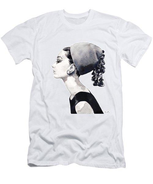 Audrey Hepburn For Vogue 1964 Couture Men's T-Shirt (Slim Fit) by Laura Row