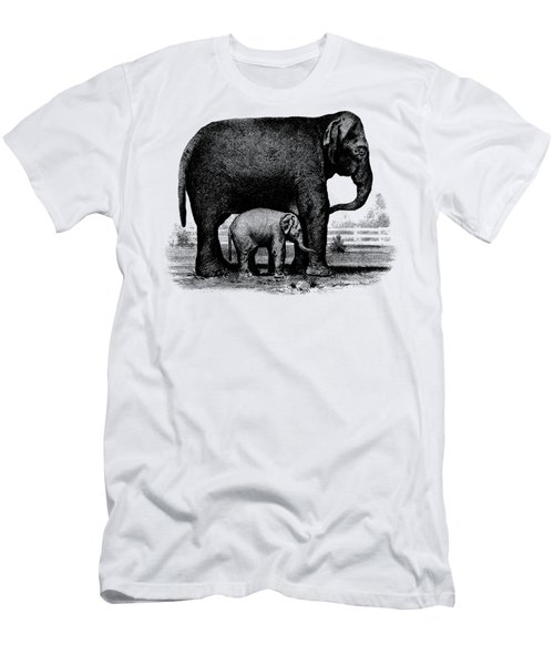 Baby Elephant T-shirt Men's T-Shirt (Slim Fit) by Edward Fielding