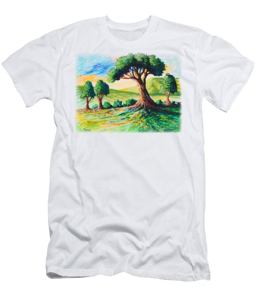 Basking In The Sun Men's T-Shirt (Slim Fit) by Anthony Mwangi