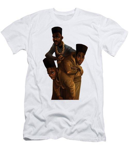 Bdk White Bg Men's T-Shirt (Slim Fit) by Nelson Dedos Garcia