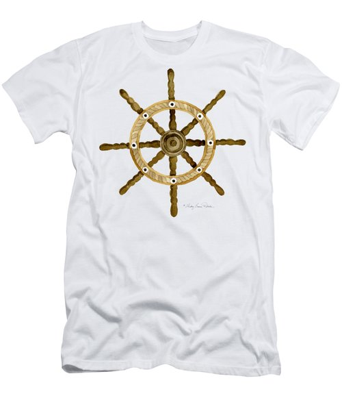 Beach House Nautical Boat Ship Anchor Vintage Men's T-Shirt (Slim Fit) by Audrey Jeanne Roberts