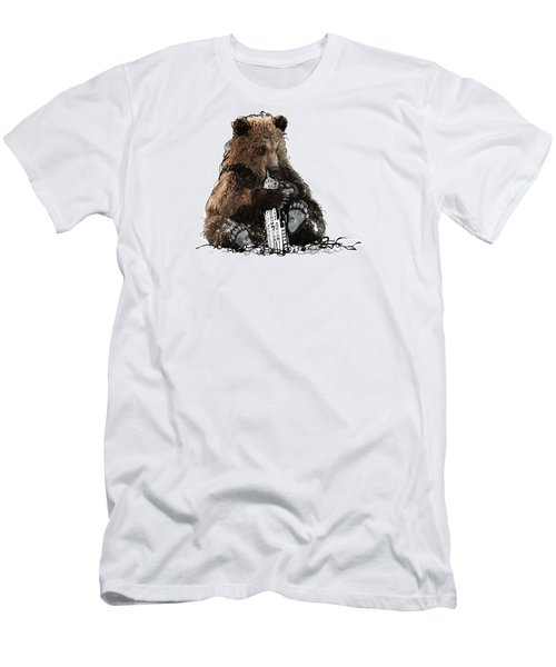 Bear Loves Ny Men's T-Shirt (Slim Fit) by Devlin