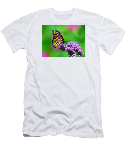 Men's T-Shirt (Slim Fit) featuring the photograph Beautiful Monarch by Rodney Campbell