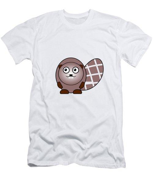 Beaver - Animals - Art For Kids Men's T-Shirt (Slim Fit) by Anastasiya Malakhova