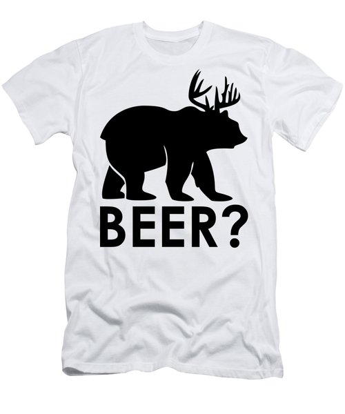 Beer? Men's T-Shirt (Slim Fit) by Frederick Holiday