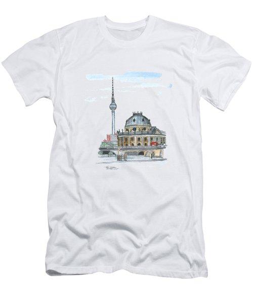 Berlin Fernsehturm Men's T-Shirt (Slim Fit) by Petra Stephens