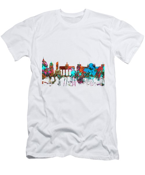 Berlin Germany Skyline  Men's T-Shirt (Slim Fit) by Marlene Watson