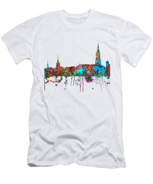 Berne Switzerland Skyline Men's T-Shirt (Slim Fit) by Marlene Watson