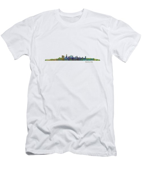 Beverly Hills City In La City Skyline Hq V1 Men's T-Shirt (Slim Fit) by HQ Photo
