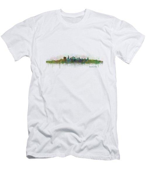 Beverly Hills City In La City Skyline Hq V3 Men's T-Shirt (Slim Fit) by HQ Photo