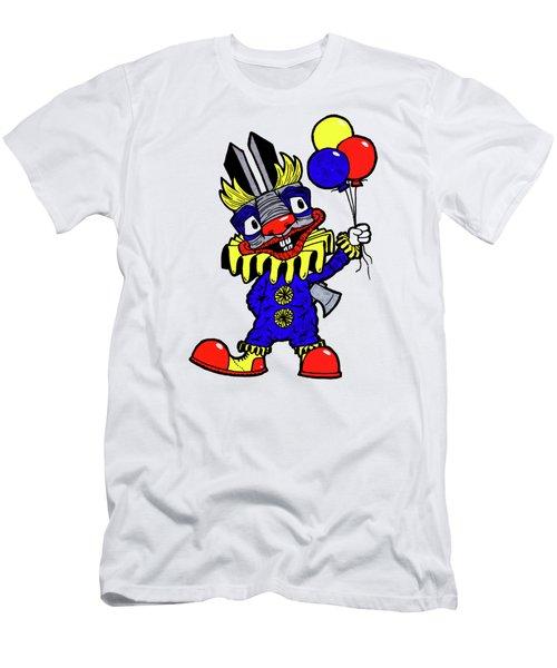 Binky The Bunny Clown Men's T-Shirt (Slim Fit) by Bizarre Bunny