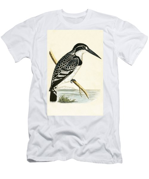 Black And White Kingfisher Men's T-Shirt (Slim Fit) by English School