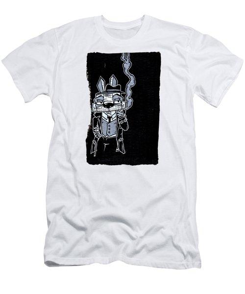 Blake Burns Detective Bunny Men's T-Shirt (Slim Fit) by Bizarre Bunny