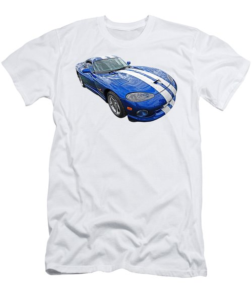 Blue Viper Men's T-Shirt (Slim Fit) by Gill Billington