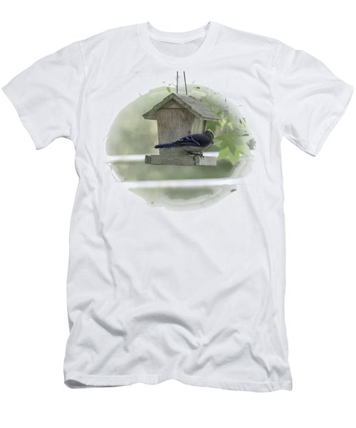 Bluejay Men's T-Shirt (Slim Fit) by Judy Hall-Folde