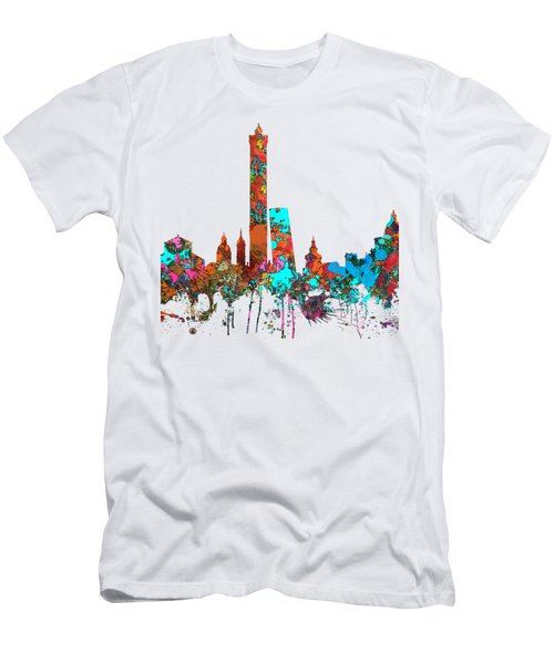 Bologna Italy  Skyline  Men's T-Shirt (Slim Fit) by Marlene Watson