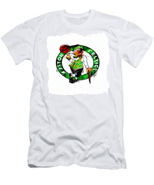 Boston Celtics 2b Men's T-Shirt (Slim Fit) by Brian Reaves