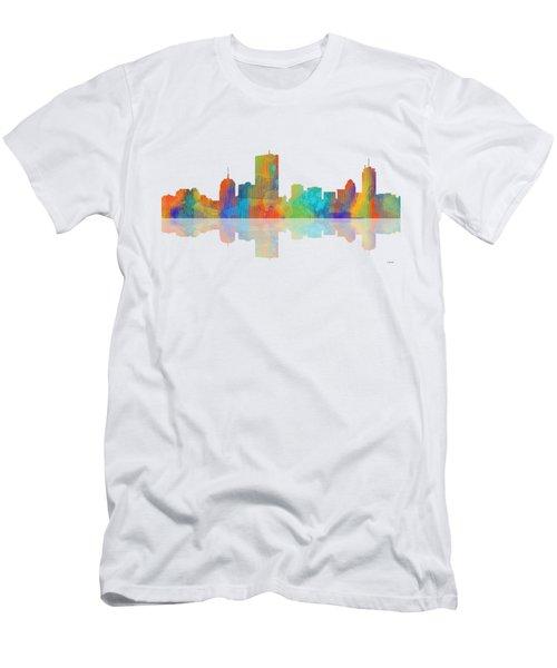 Boston Ma. Skyline Men's T-Shirt (Slim Fit) by Marlene Watson