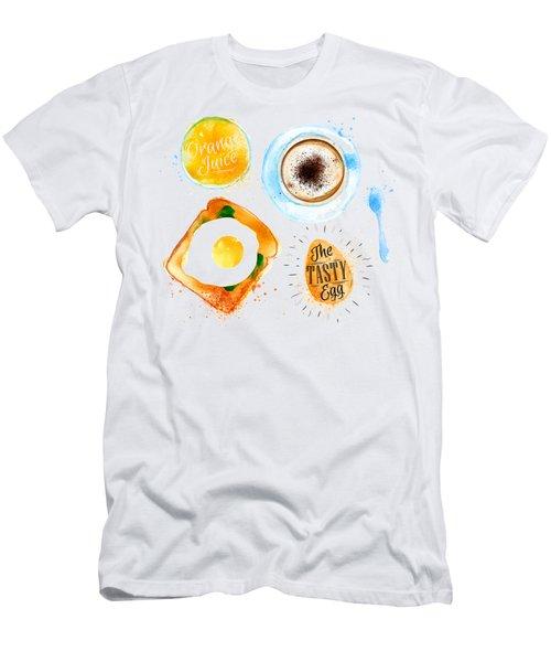 Breakfast 02 Men's T-Shirt (Slim Fit) by Aloke Design