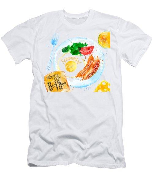 Breakfast 04 Men's T-Shirt (Slim Fit) by Aloke Design