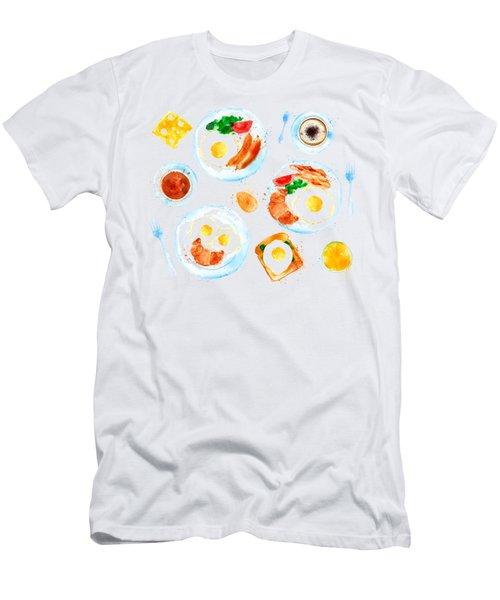 Breakfast 05 Men's T-Shirt (Slim Fit) by Aloke Design
