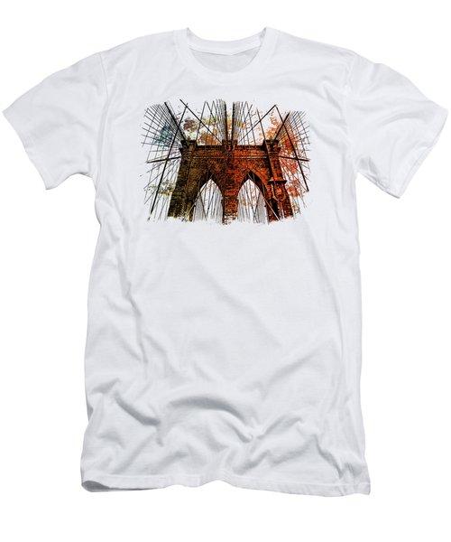 Brooklyn Bridge Art 1 Men's T-Shirt (Slim Fit) by Di Designs