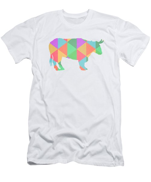 Bull Cow Triangles Men's T-Shirt (Slim Fit) by Edward Fielding