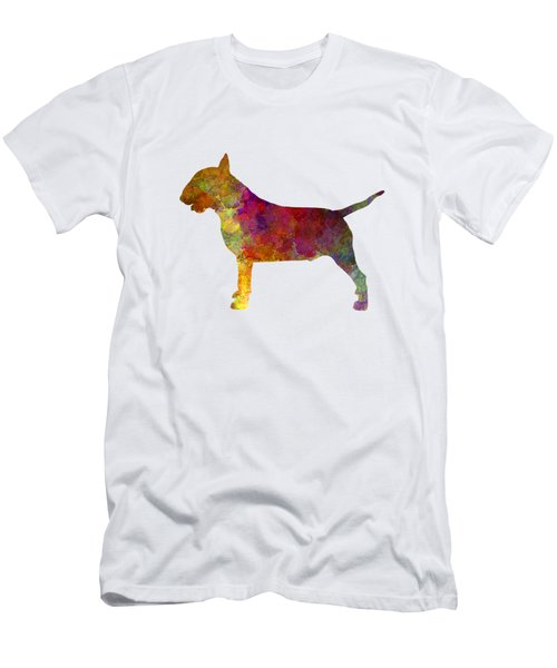 Bull Terrier In Watercolor Men's T-Shirt (Slim Fit) by Pablo Romero