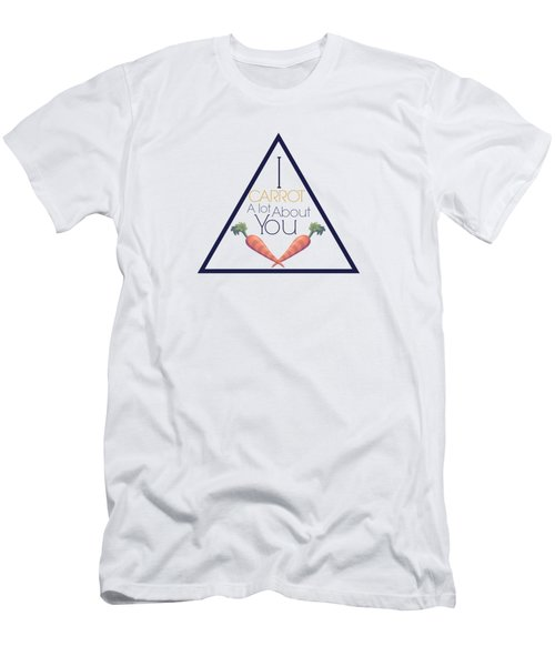Carrot About You Pyramid Men's T-Shirt (Slim Fit) by Lunar Harvest Designs