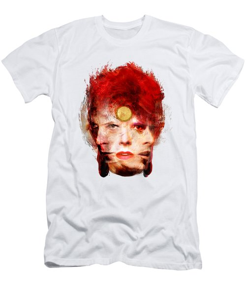 Ch Ch Changes David Bowie Portrait Men's T-Shirt (Slim Fit) by Big Fat Arts