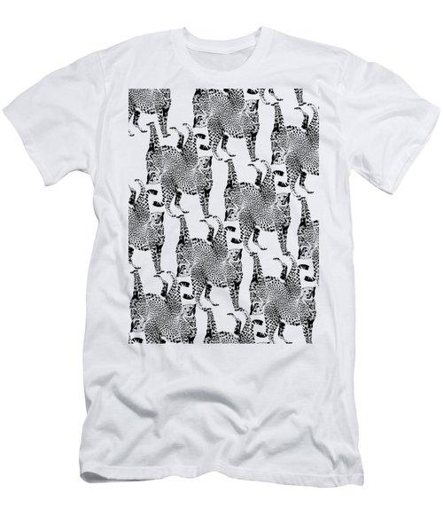 Cheetah Pattern Men's T-Shirt (Slim Fit) by Greg Noblin
