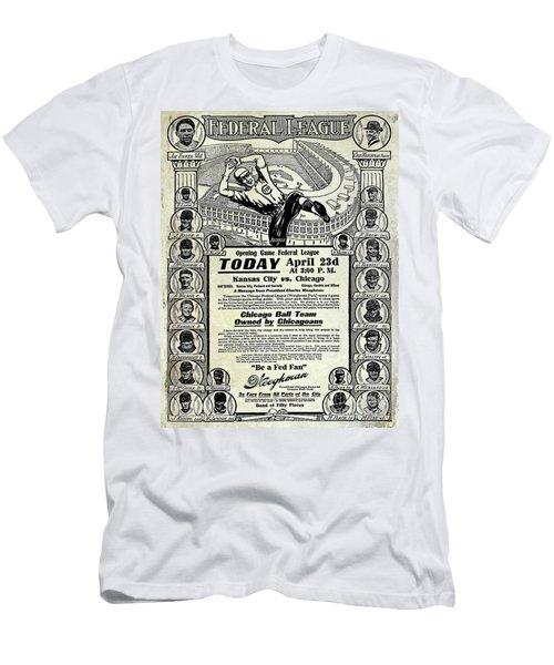 Chicago Cub Poster Men's T-Shirt (Slim Fit) by Jon Neidert