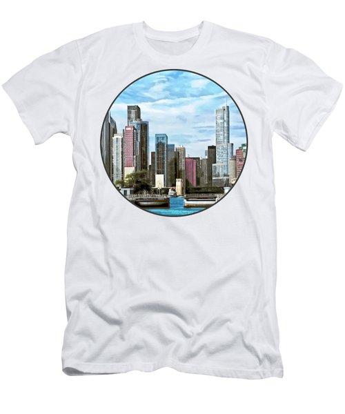 Chicago Il - Chicago Harbor Lock Men's T-Shirt (Slim Fit) by Susan Savad