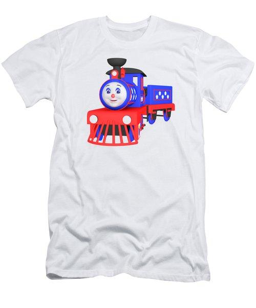 Choo-choo The Train - 1 Men's T-Shirt (Slim Fit) by Yulia Litvinova