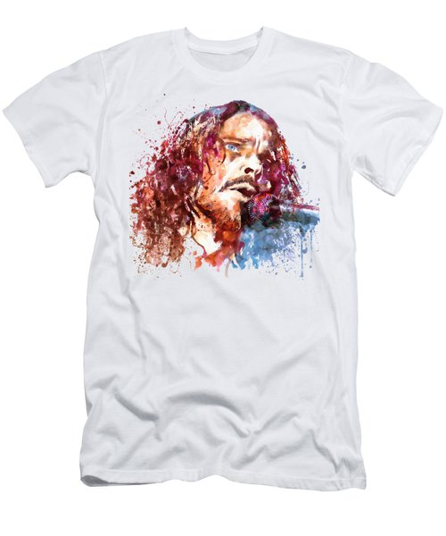 Chris Cornell Men's T-Shirt (Slim Fit) by Marian Voicu