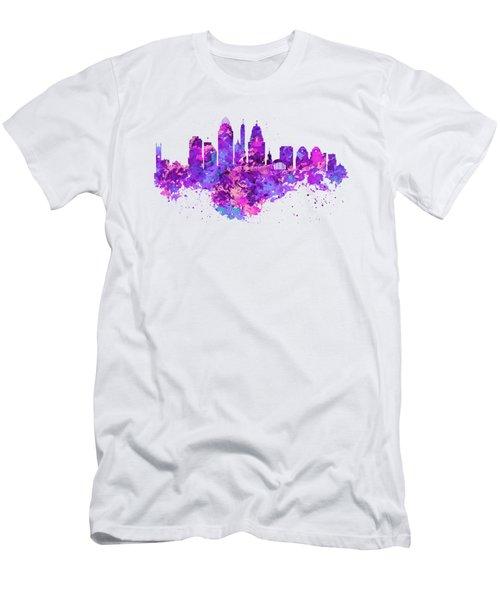 Cincinnati Skyline Men's T-Shirt (Slim Fit) by Marian Voicu
