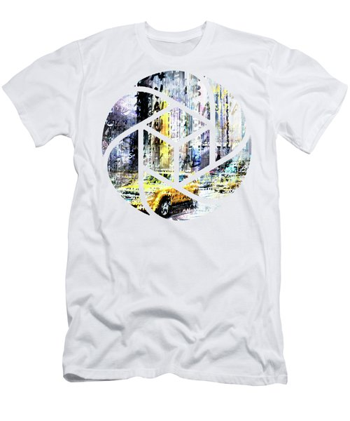 City-art Times Square Streetscene Men's T-Shirt (Slim Fit) by Melanie Viola