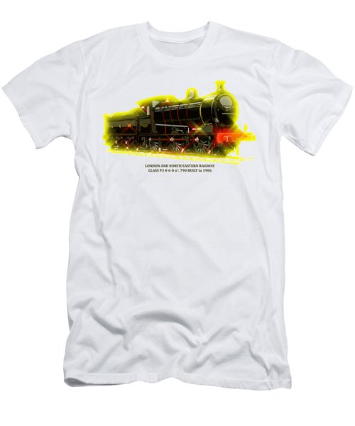 Classic British Steam Locomotive Men's T-Shirt (Slim Fit) by Aapshop