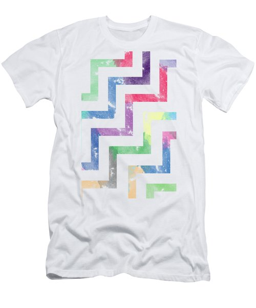 Colorful Geometric Patterns Vi Men's T-Shirt (Slim Fit) by Amir Faysal