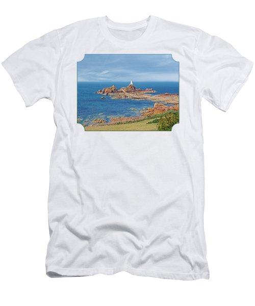 Corbiere Lighthouse Jersey Men's T-Shirt (Slim Fit) by Gill Billington