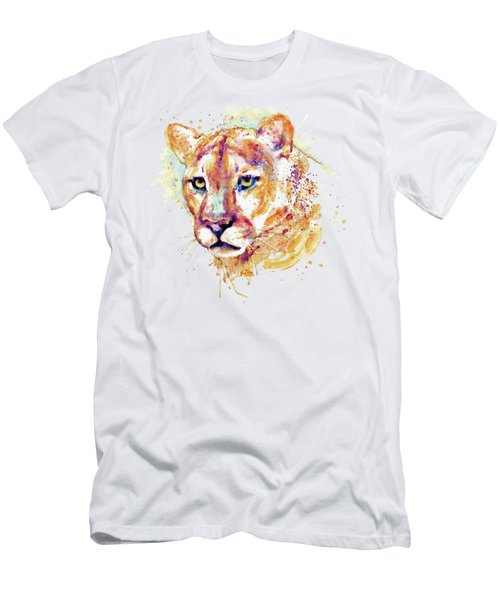 Cougar Head Men's T-Shirt (Slim Fit) by Marian Voicu