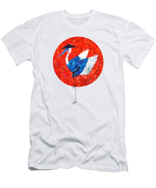Crane Men's T-Shirt (Slim Fit) by Daryna Skulska