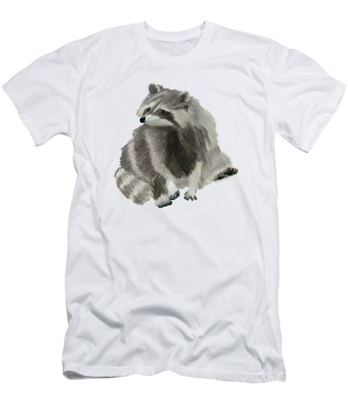 Cute Raccoon Men's T-Shirt (Slim Fit) by Dominic White