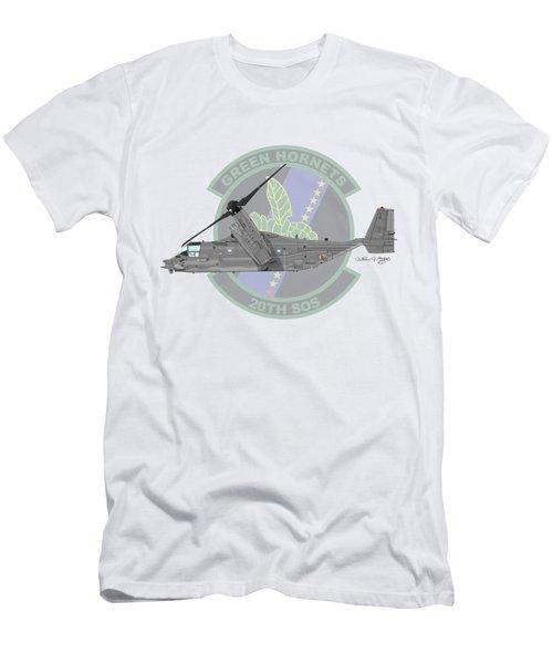 Cv-22b Osprey 20sos Men's T-Shirt (Slim Fit) by Arthur Eggers
