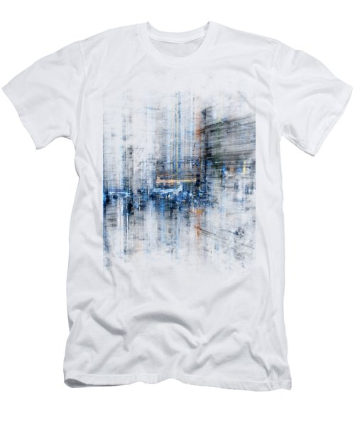 Cyber City Design Men's T-Shirt (Slim Fit) by Martin Capek