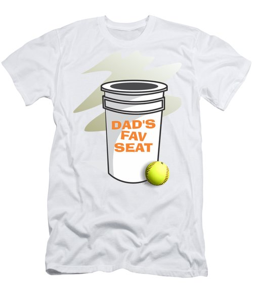Dad's Fav Seat Men's T-Shirt (Slim Fit) by Jerry Watkins