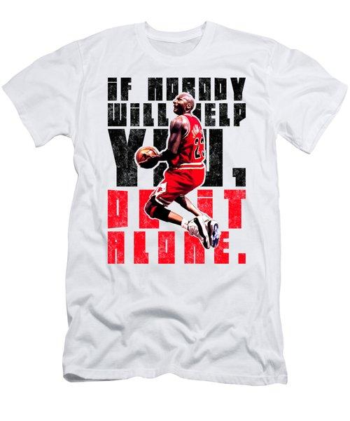 Do It Alone Men's T-Shirt (Slim Fit) by Iman Cruz