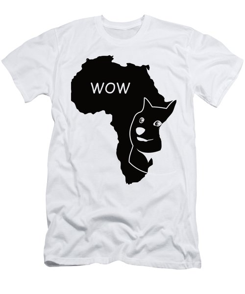 Dogecoin In Africa Men's T-Shirt (Slim Fit) by Michael Jordan