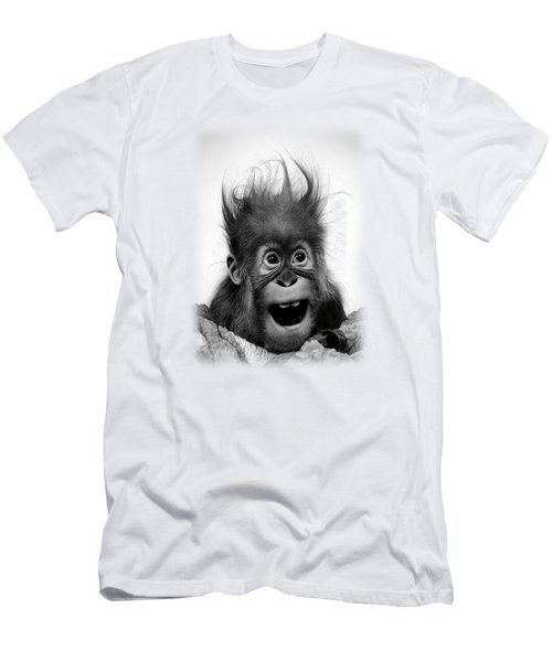 Don't Panic Men's T-Shirt (Slim Fit) by Miro Gradinscak