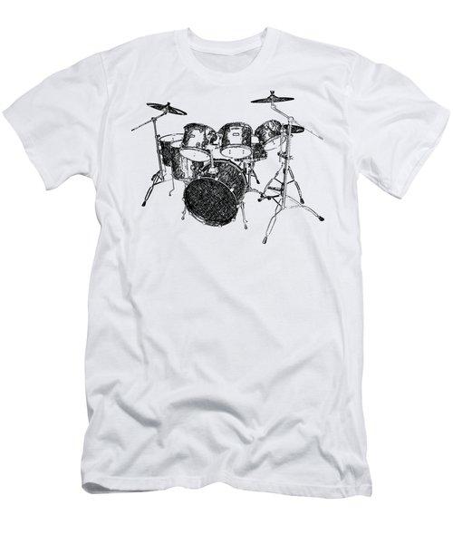 Drums Men's T-Shirt (Slim Fit) by Birgitta